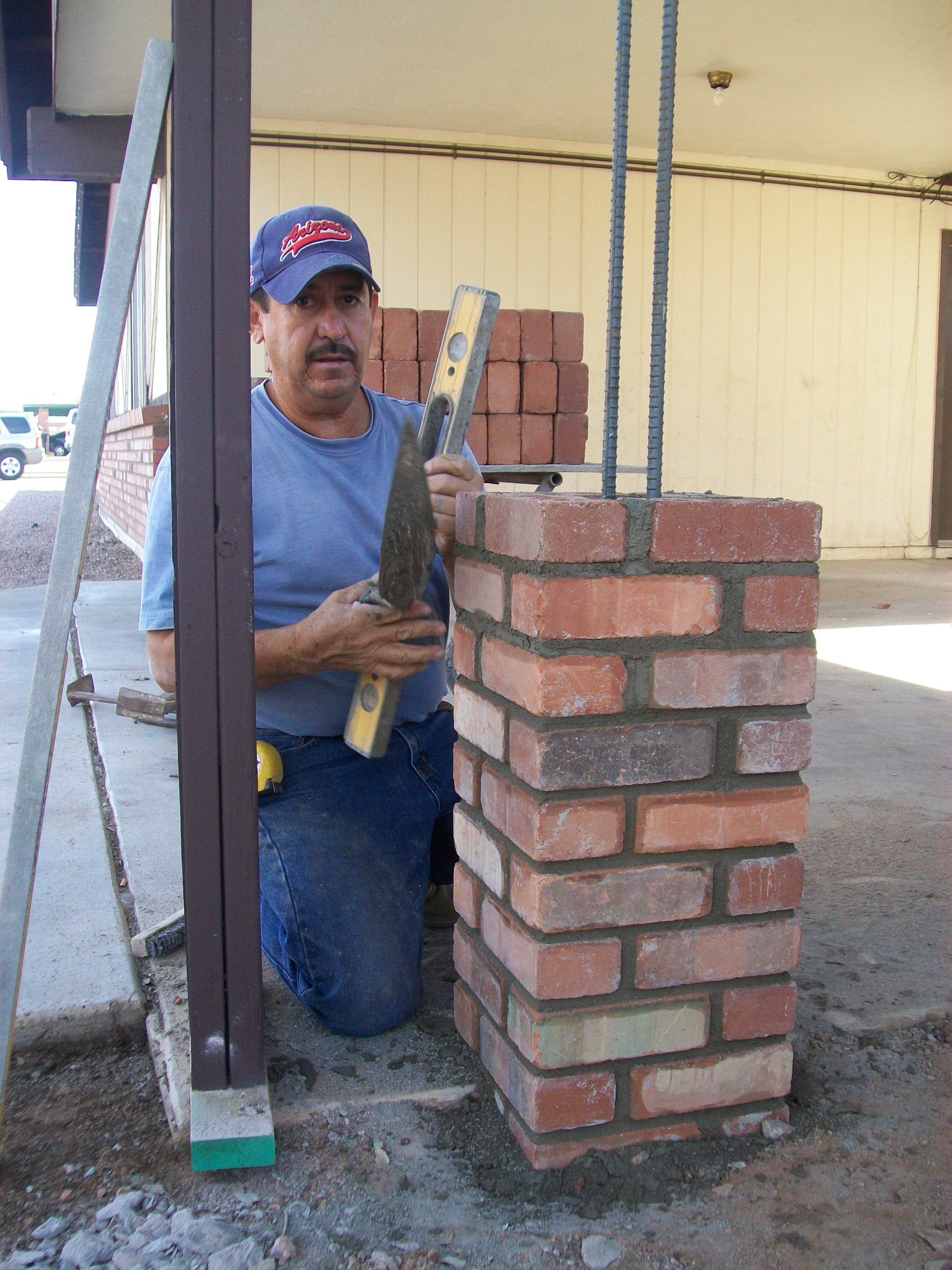 Masonry construction darrin gray corp for How to build a house on pillars