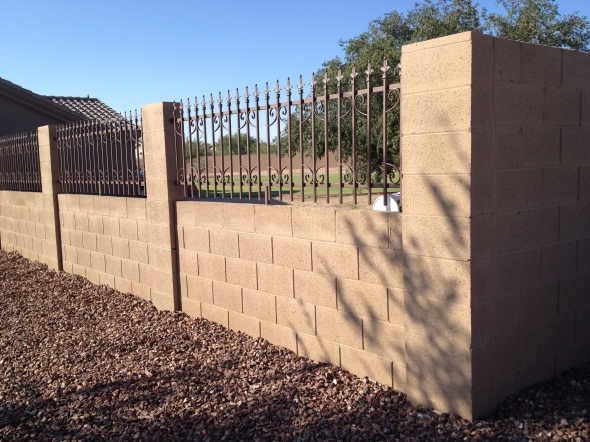 Brick, Block Fence arizona