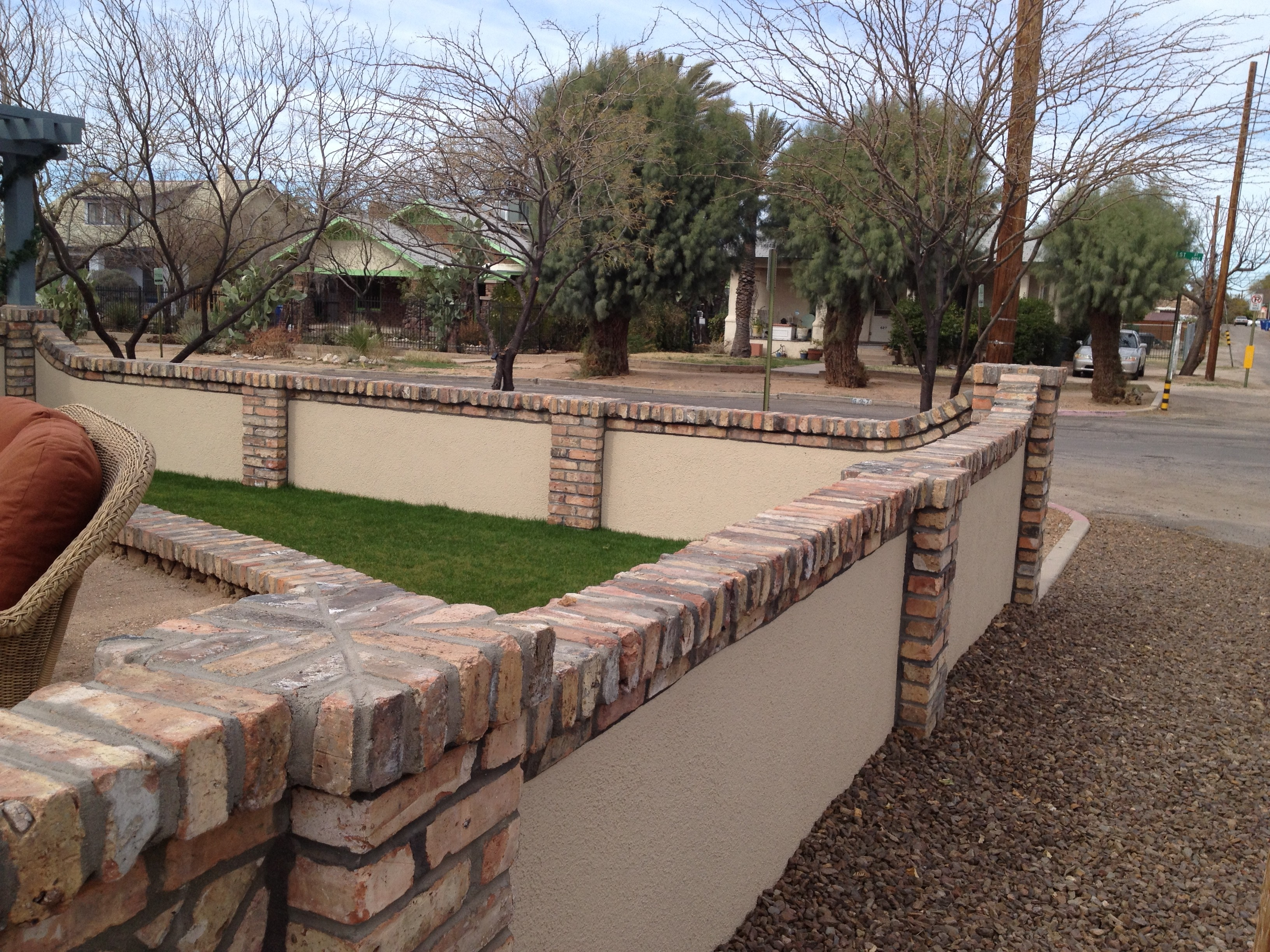 Stucco Fence Designs Block fences darrin gray corp adding brick to your fence will help it stand out workwithnaturefo