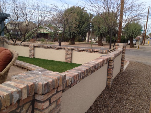 Adding Brick to your fence will help it stand out!