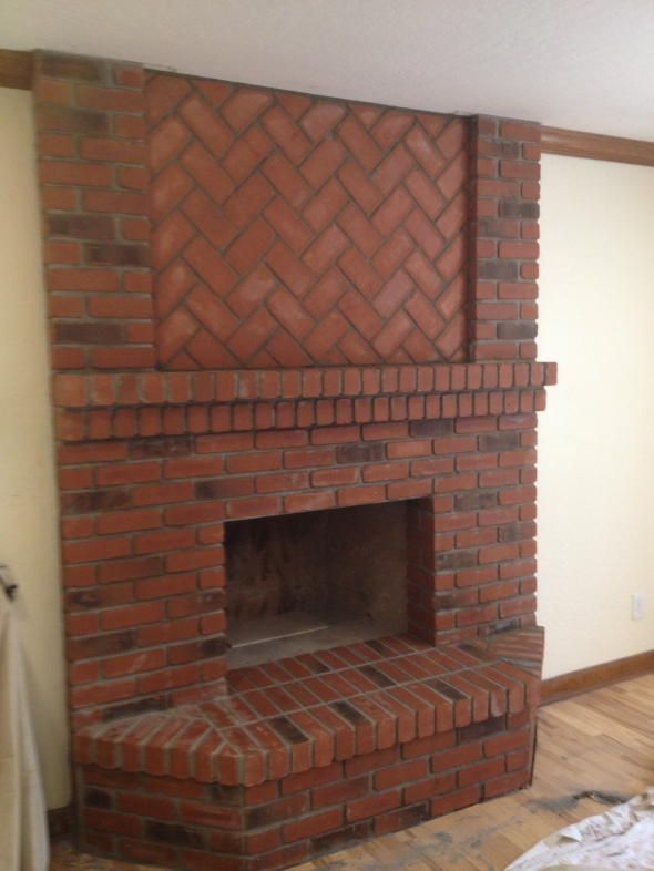 Brick Fireplace Face, Mesa, Arizona