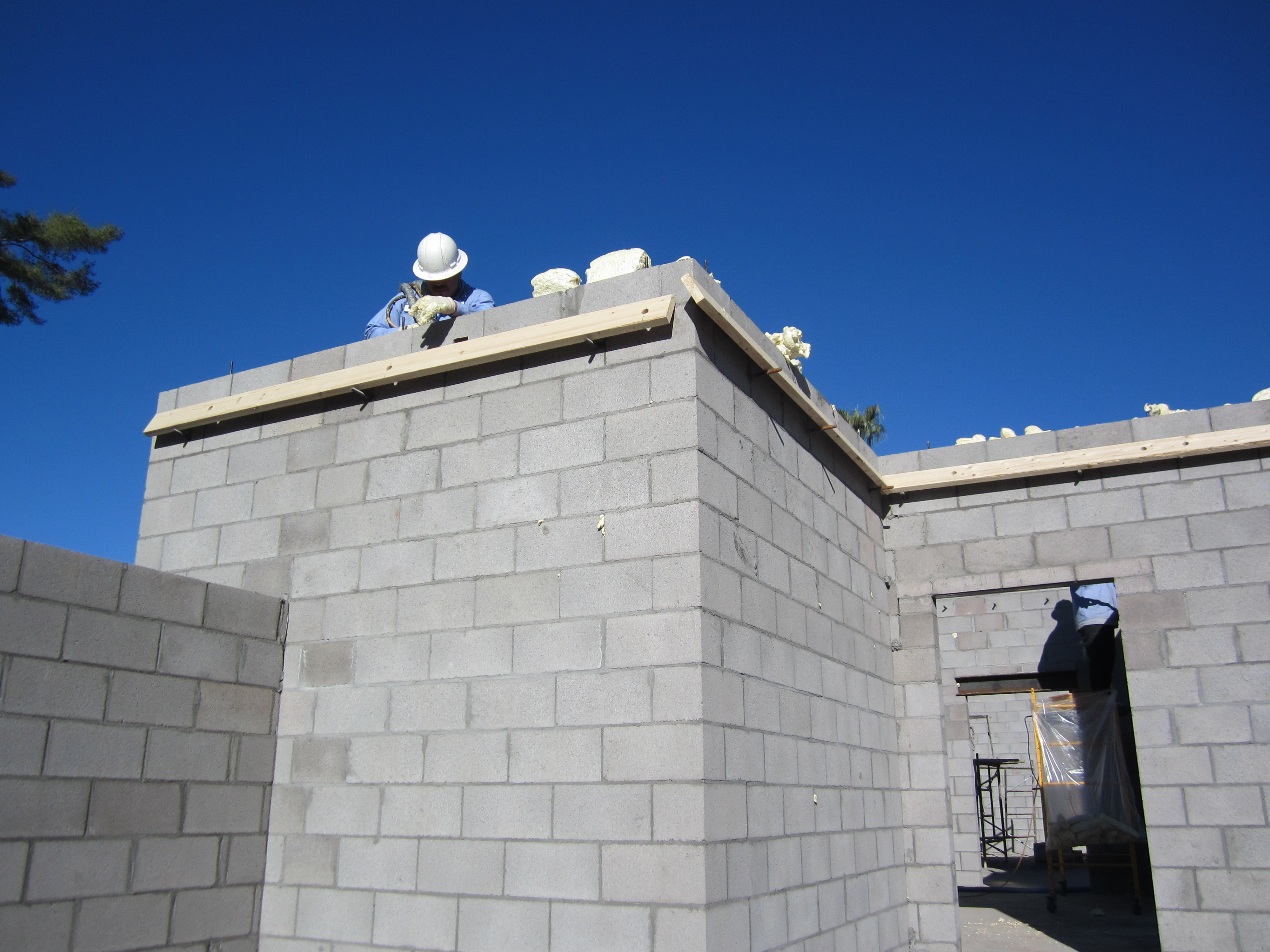 Darrin gray corp masonry division for Foam block homes