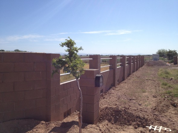 Block Fence, Queen Creek, Arizona,